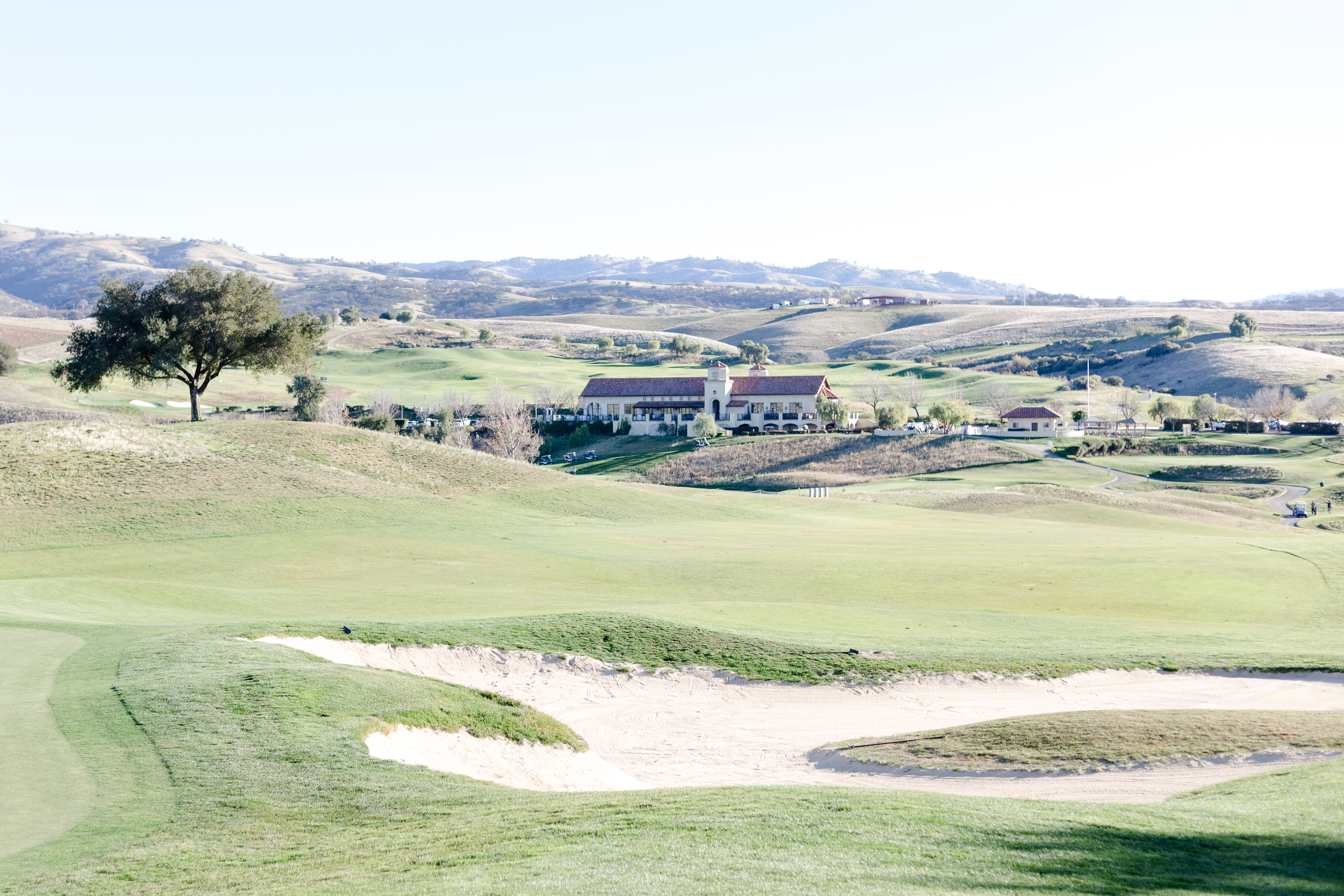 View of the Poppy Ridge reception area from the golf course